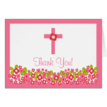 Obrigado que transversal floral moderno do comunhã cartões
