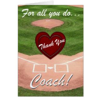 Obrigado que treina! - Basebol Cartão Comemorativo