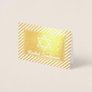 Obrigado real de Mitzvah do bastão da folha de Cartão Metalizado