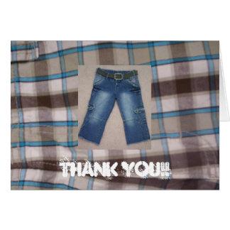 Obrigado!! Refrigere jeans! Cartão De Nota