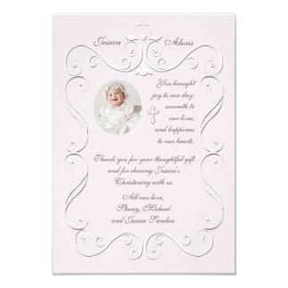 Obrigado religioso da foto do rosa macio do convite