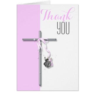 Obrigado religioso do anjo da confirmação você cartão de nota