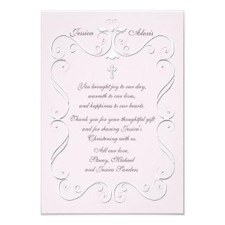 Obrigado religioso do rosa macio do coração você convites personalizado