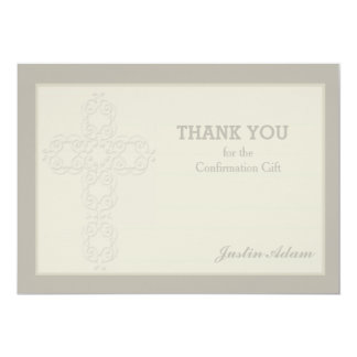 Obrigado religioso do Watermark transversal você Convite 12.7 X 17.78cm