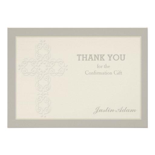 Obrigado religioso do Watermark transversal você N Convites