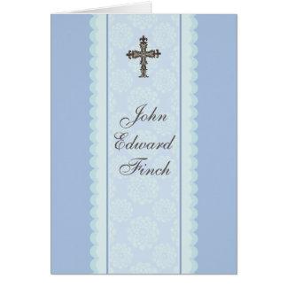 Obrigado religioso transversal elaborado você cartão de nota