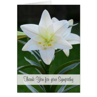 Obrigado religioso vazio da simpatia você cartão