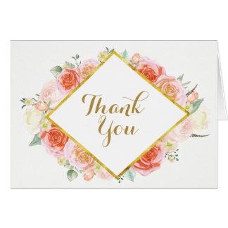 Obrigado romântico do casamento você cartões