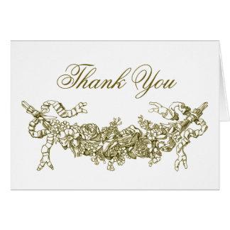Obrigado romântico dos ganhos do ouro você cartões