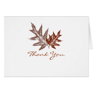 Obrigado rústico da folha do carvalho você cartões