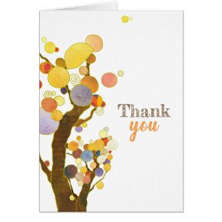 Obrigado rústico das árvores de Boho você cartão