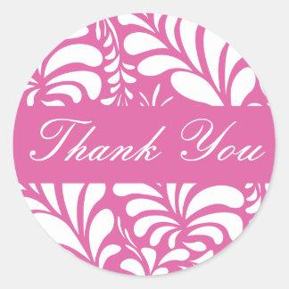Obrigado selo da etiqueta do envelope da flora da adesivo