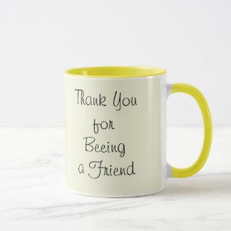Obrigado sendo (beeing) uma caneca do amigo