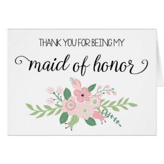 Obrigado sendo meu cartão da madrinha de casamento