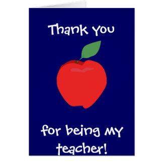 Obrigado sendo meu professor! Cartão