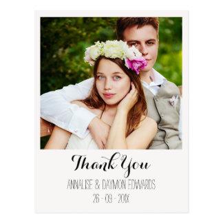 Obrigado simples da foto do casamento você cartão