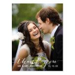 Obrigado simples do casamento da escrita você cart cartões postais