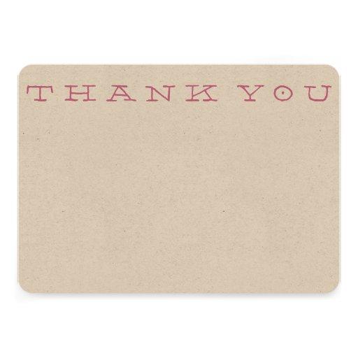 """""""Obrigado simples você"""" cartão de nota Convite Personalizados"""