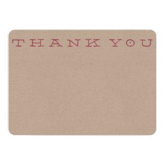"""""""Obrigado simples você"""" cartão de nota Convite 12.7 X 17.78cm"""