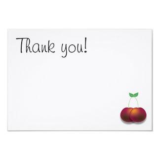 Obrigado simples você cartão de nota da cereja convite 8.89 x 12.7cm
