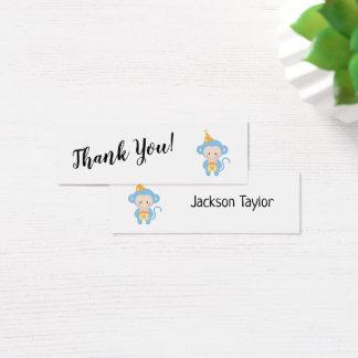 Obrigado simples você com os cartões azuis da