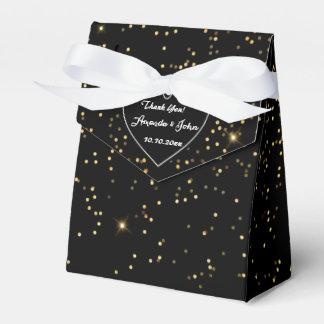 Obrigado Sparkly dourado branco preto do favor do Caixinhas De Lembrancinhas Para Casamentos