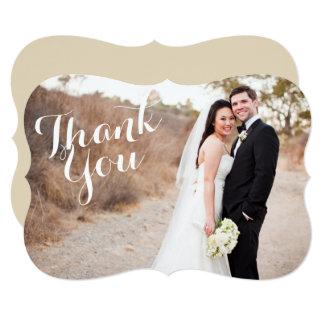 Obrigado suportar o cartão com fotos do casamento convite 12.7 x 17.78cm