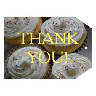 Obrigado Tag dos cupcakes Convite 12.7 X 17.78cm