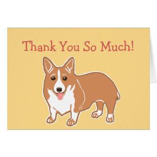Obrigado tanto cartão do Corgi