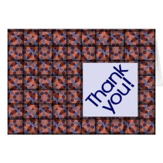 Obrigado tecido você modelou o cartão