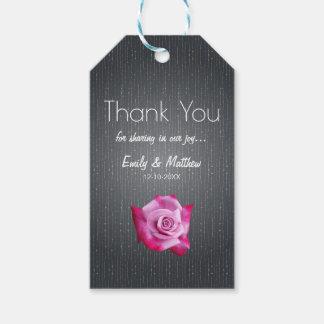 Obrigado Textured cinzas do casamento do rosa do