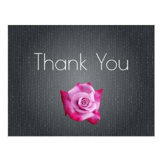 Obrigado Textured cinzas do rosa do rosa você Cartão Postal