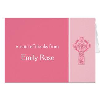 Obrigado transversal religioso você cartão de nota