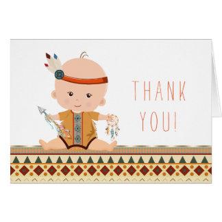 Obrigado tribal do chá de fraldas você cartões