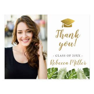 Obrigado tropical da graduação você cartão da foto