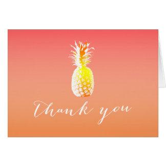 Obrigado tropical do abacaxi você cartões