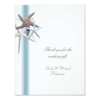 Obrigado tropical do casamento de praia da estrela convite 10.79 x 13.97cm