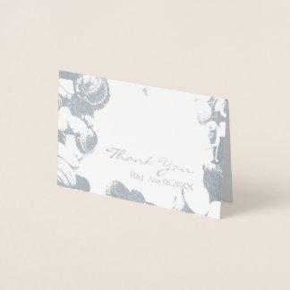 obrigado tropical do casamento do destino dos cartão metalizado