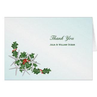 Obrigado tropical do casamento do Natal você cartõ Cartão De Nota