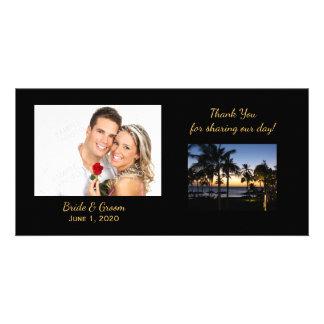 Obrigado tropical do destino você cartões com