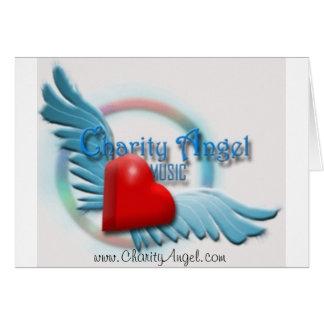 Obrigado (vazio) da indústria musical do anjo da c cartão