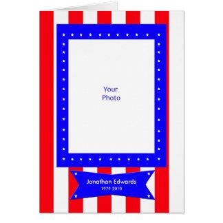 Obrigado vazio da simpatia da foto do veterano cartão de nota