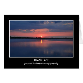 Obrigado vazio da simpatia do por do sol você cartão