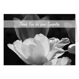 Obrigado vazio da simpatia você cartão de nota --