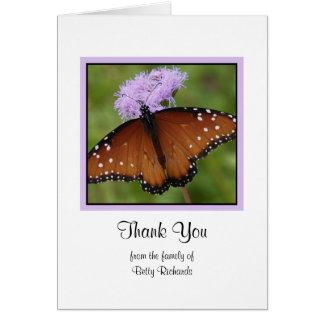 Obrigado vazio da simpatia você cartão de nota -