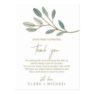 Obrigado veado ouro do eucalipto você cartão da