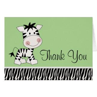 Obrigado verde bonito da zebra você cartões