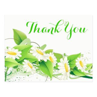 Obrigado verde floral você flores das margaridas cartão postal