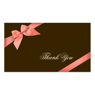 Obrigado vermelho coral da fita você Minicard Modelos Cartões De Visita