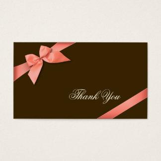 Obrigado vermelho coral da fita você Minicard Cartão De Visitas